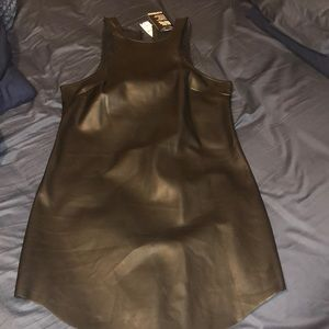 EXPRESS Faux leather dress NWT
